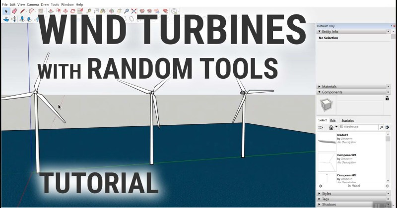 Placing Wind Turbines with my Random Tools Extension