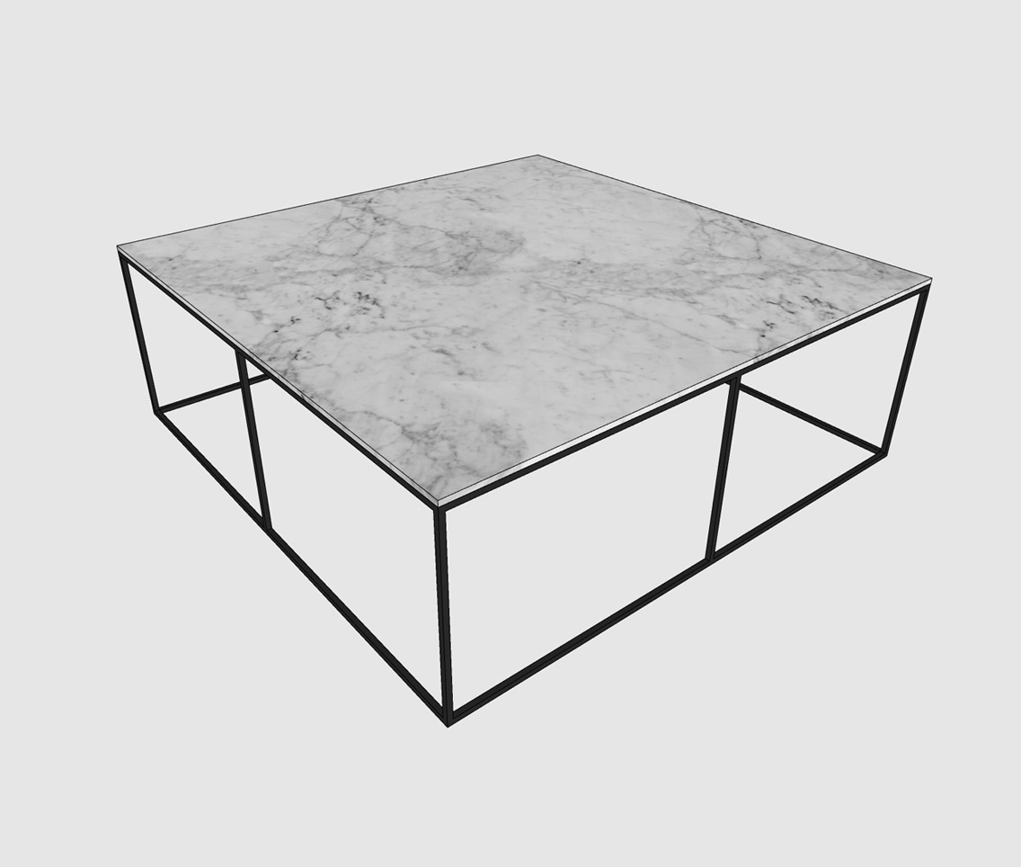 large square marble coffee table