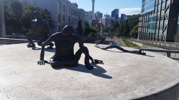 """Loafers"" by Francis Upritchard 2012. Auckland Council Public Art."