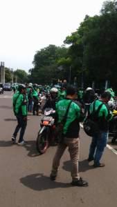 Driver Gojek, di Senayan
