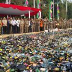 Pemusnahan Miras se DKI Sitaan Hasil Ramadhan 1439 H