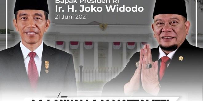 Ucapkan Selamat Ultah buat Jokowi, LaNyalla Optimis RI Keluar dari Pandemi