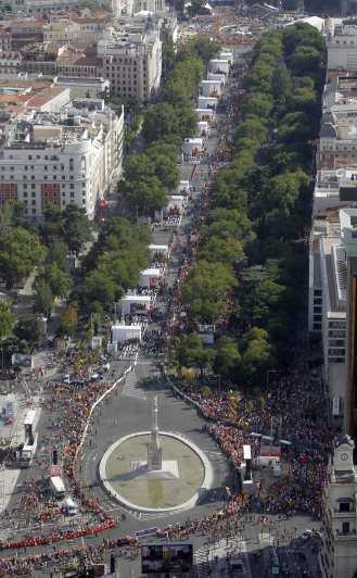 Vista del Via Crucis-Paseo del Prado
