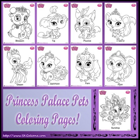 palace pets names coloring pages - photo#35