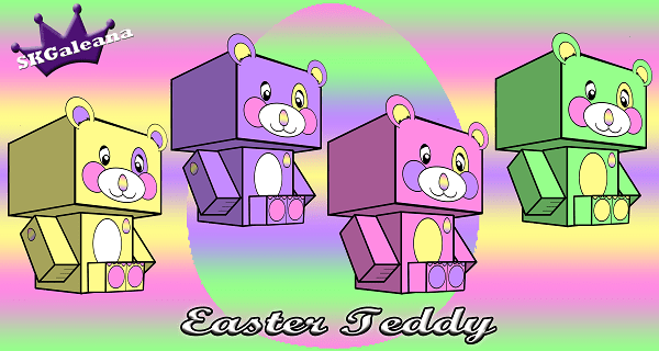Teddy Easter 3d small