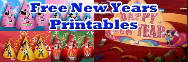 disney new year printable party supplies paper crafts and activities skgaleana