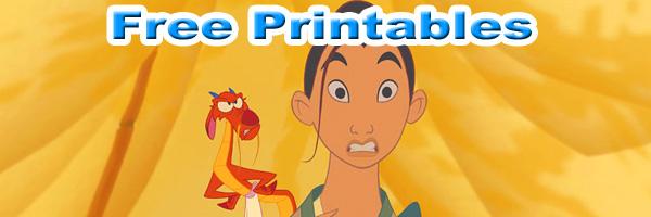mulan free printables SKGaleana