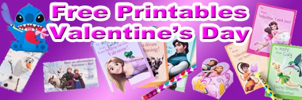 Disney Valentines Day Printables SKGaleana