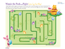 Maze Easter Pooh