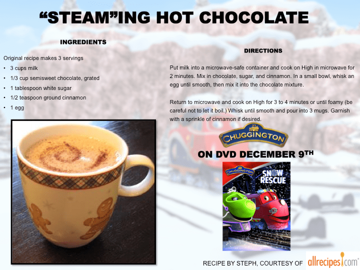 Steaming Hot Chocolate
