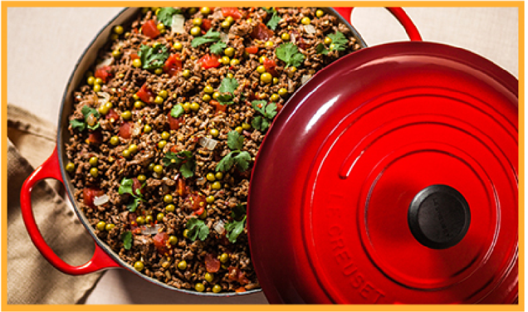 Kheewa Indian Ground Beef with Peas