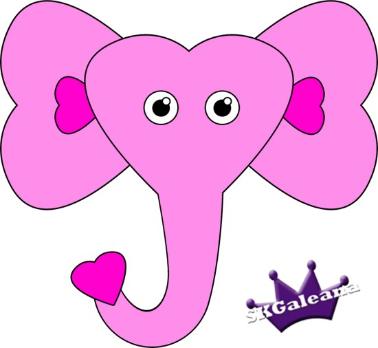 Elephant Valentine's Day Paper Craft SKGaleana