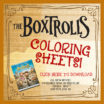 Boxtrolls free printable Maze SKGaleana