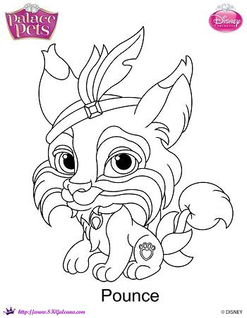 Disney Princess Palace Pet Pounce Coloring Page SKGaleana