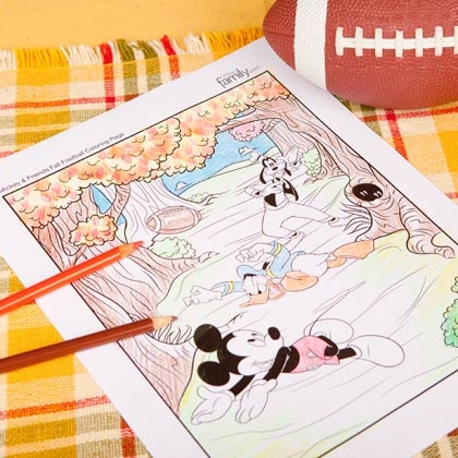 mickey coloring page football