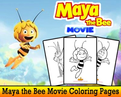 Maya The Bee Movie Printable Coloring pages