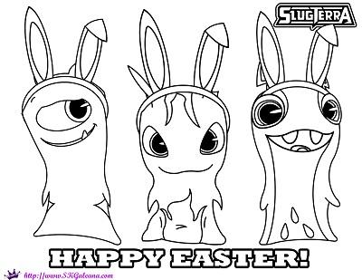 Happy Easter Slugterra Coloring Page by SKGaleana copy