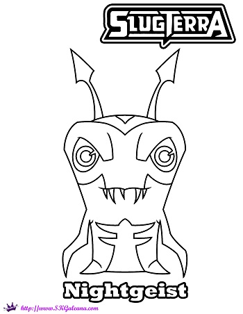 Free slugterra nightgeist printable coloring page skgaleana for Slugterra coloring pages burpy