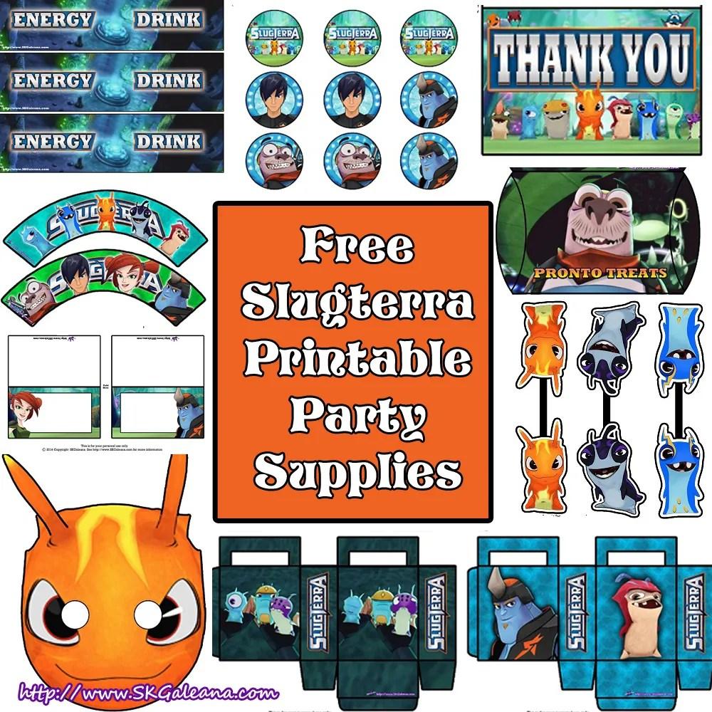 Free Slugterra Party Printables And Crafts Skgaleana