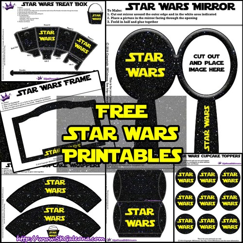 Free Star Wars Printables SKGaleana
