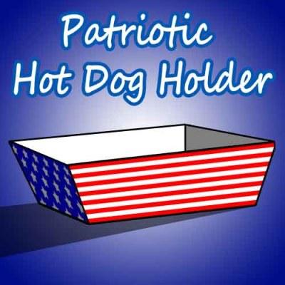 Patriotic Hot Dog Holder SKGaleana