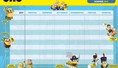Minion timetable