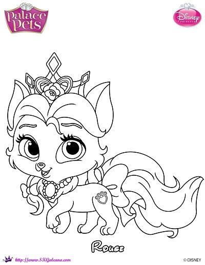 Free princess palace pets rouge coloring page skgaleana for Princess pets coloring pages