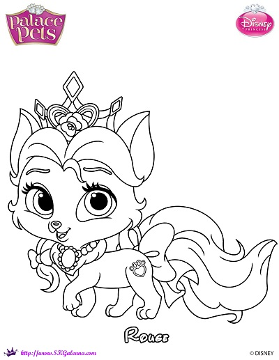 Free Princess Palace Pets Rouge Coloring Page | SKGaleana