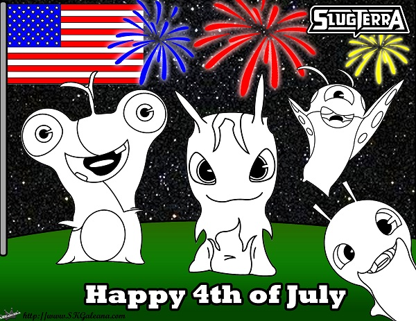 4th of July Slugterra coloring Page SKGaleana