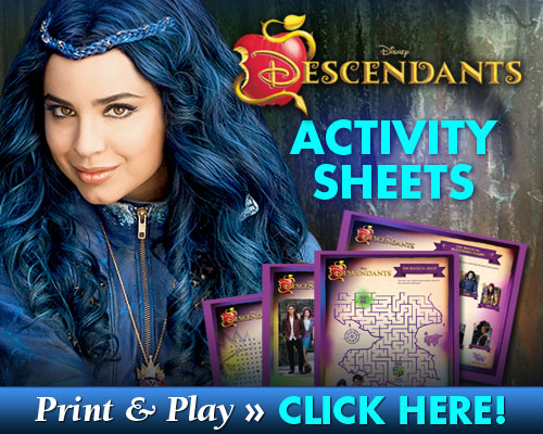 Descendants Free activity sheets SKGaleana