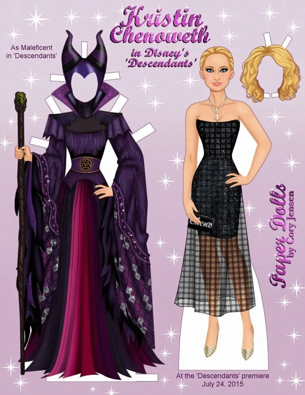 Descendants Kristin Chenoweth Paper dolls by Cory