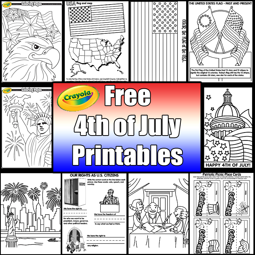 Independence day coloring pages from crayola skgaleana