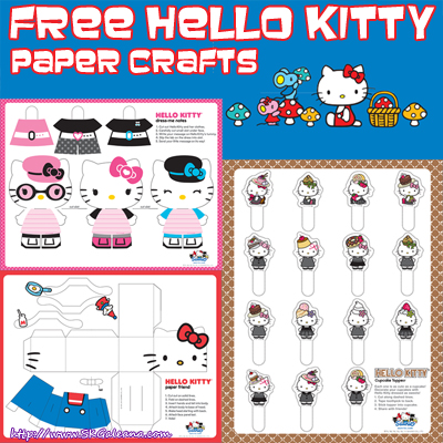 Free Hello Kitty Paper Crafts