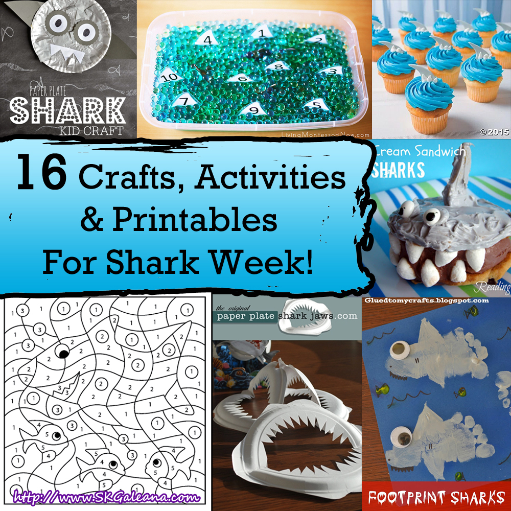 16 Crafts Activities & Printables for Shark Week | SKGaleana