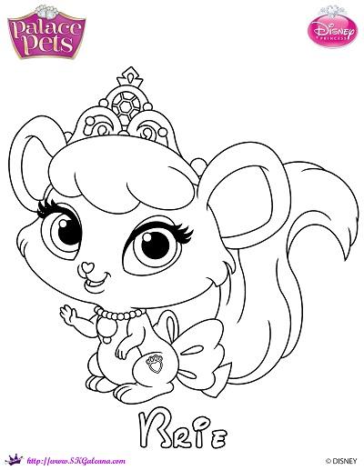 Free princess palace pets coloring page of brie skgaleana for Princess pets coloring pages