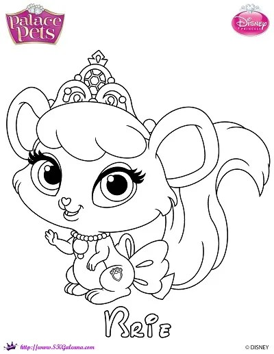 Free Princess Palace Pets Coloring Page of Brie | SKGaleana