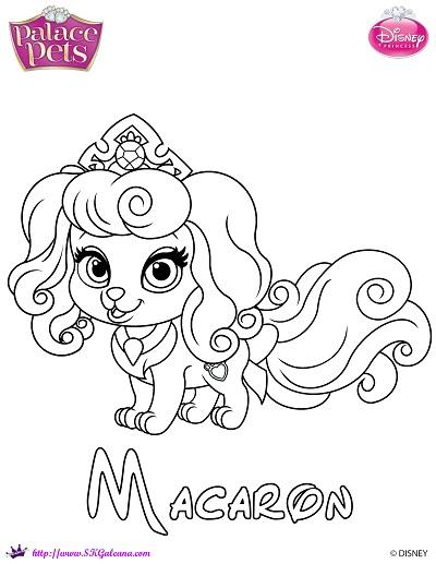 Macaron Princess Palace Pet Coloring Page SKGaleana image