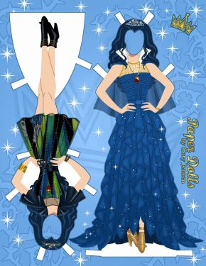 Paper dolls by Cory Evie from Descendants2