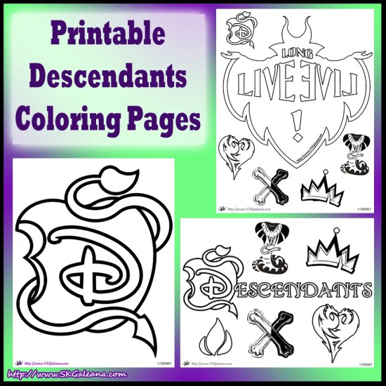 Printable Descendants Coloring Pages