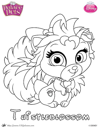 Thistleblossom Princess Palace Pet Coloring Page by SKGaleana