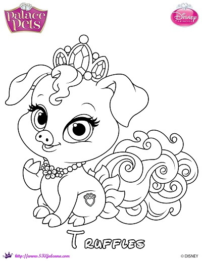 Truffles Princess Palace Pet Coloring Page by SKGaleana