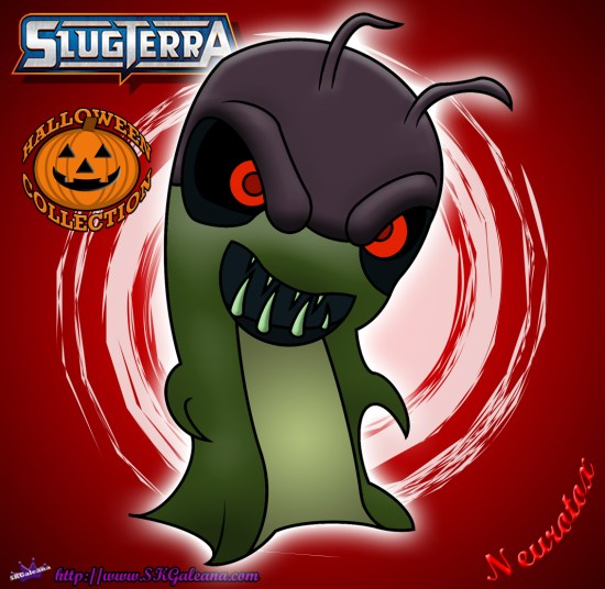 Halloween Neurotox Slug coloring page from Slugterra SKGaleana image