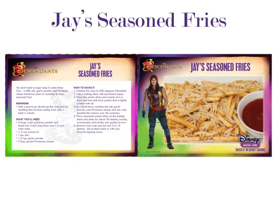 Descendants recipe Jays seasoned fries