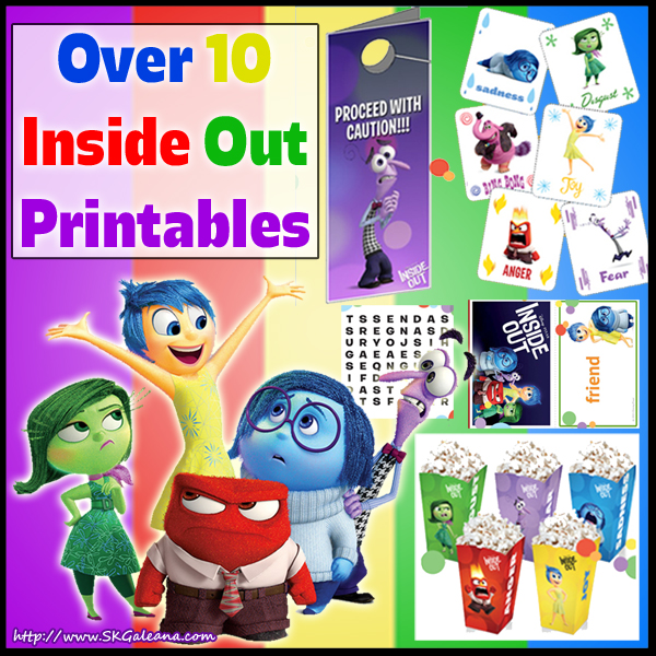Free Inside Out Printables And Crafts