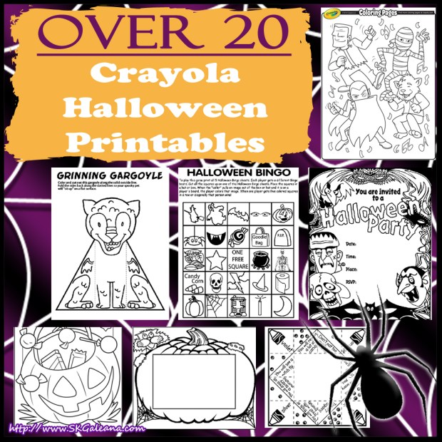 Over 20 Crayola Halloween Printables