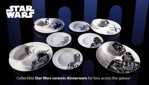collectible star wars plates