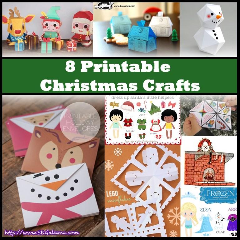 8 Christmas Printables