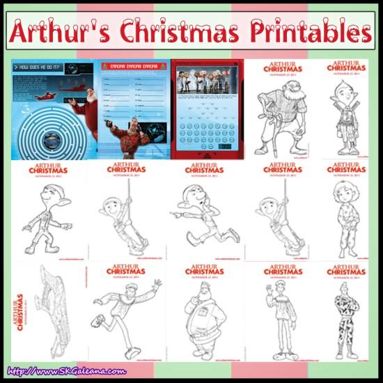 Aurthur's Christmas Printables