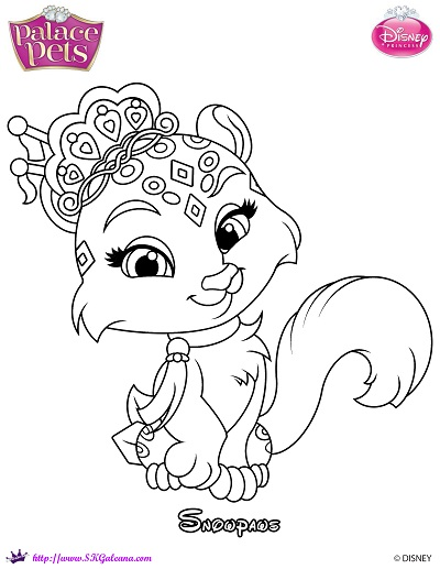 Snowpaws Princess Palace Pets Coloring Page Skgaleana Disney Princess Pets Coloring Pages Free Coloring Sheets