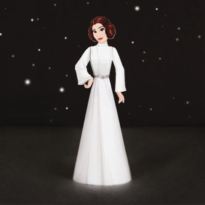 princess leia paper craft 3D